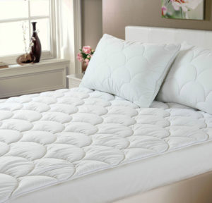 Bedding CLOUD QUILTED MATTRESS TOPPER WHITE