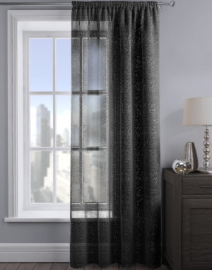 Curtains ALESSANDRIA SHIMMER VOILE BLACK
