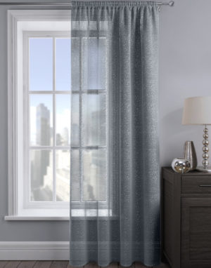 Curtains ALESSANDRIA SHIMMER VOILE CHARCOAL