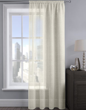 Curtains ALESSANDRIA SHIMMER VOILE CREAM