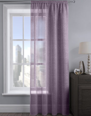 Curtains ALESSANDRIA SHIMMER VOILE MAUVE