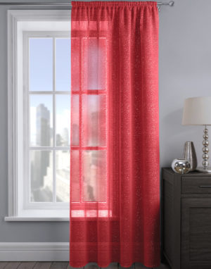 Curtains ALESSANDRIA SHIMMER VOILE RED
