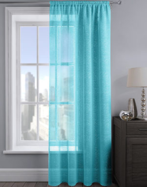 Curtains ALESSANDRIA SHIMMER VOILE TEAL