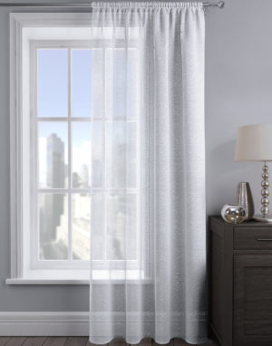 Curtains ALESSANDRIA SHIMMER VOILE WHITE