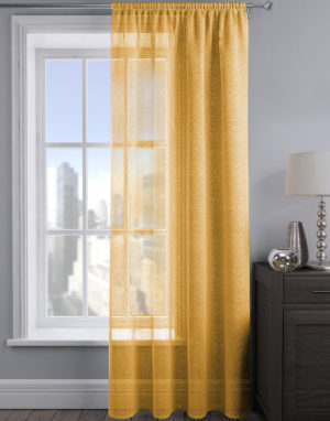 Curtains ALESSANDRIA SHIMMER VOILE YELLOW