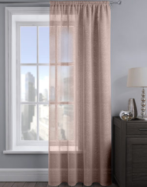 Curtains ALESSANDRIA SHIMMER VOILE BLUSH PINK