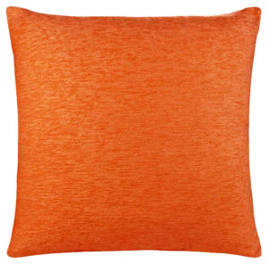 Cushions PLAIN CHENILLE CUSHION COVER ORANGE