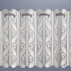 Curtains LOUVRE PLEATED VERTICAL LACE NET CURTAIN