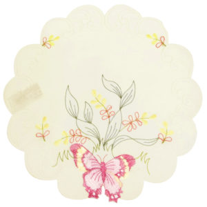 Household BUTTERFLY NAPERY ARMCAP PINK
