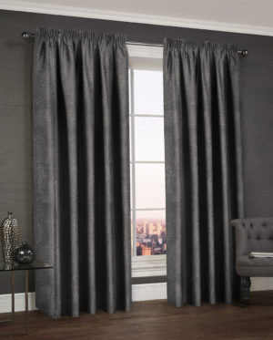 Curtains WESTWOOD DIMOUT THERMAL CURTAINS BLACK