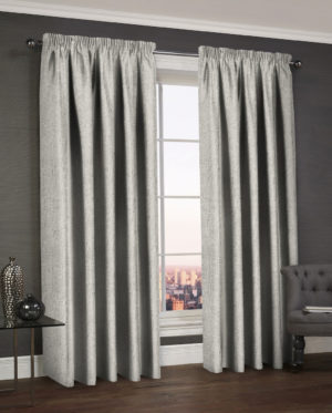 Blush and Grey WESTWOOD DIMOUT THERMAL CURTAINS SILVER