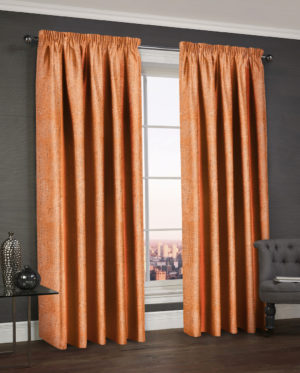 Curtains WESTWOOD DIMOUT THERMAL CURTAINS ORANGE