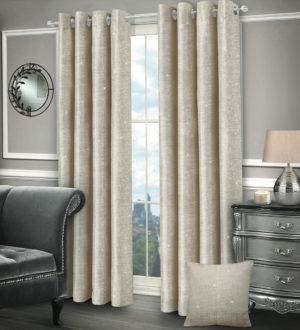 Curtains SASHA RING TOP CURTAINS CREAM