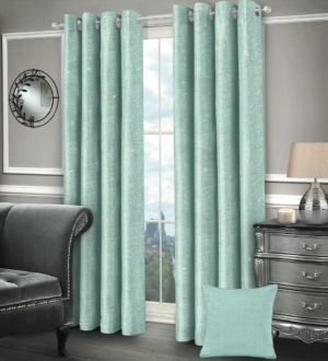 Curtains SASHA RING TOP CURTAINS DUCK EGG