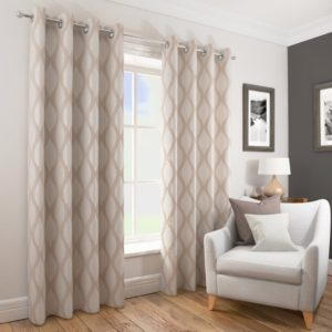 Curtains DECO RING TOP CURTAINS NATURAL