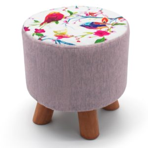 Household ORIENTAL BIRD FLORAL FOOT STOOLS