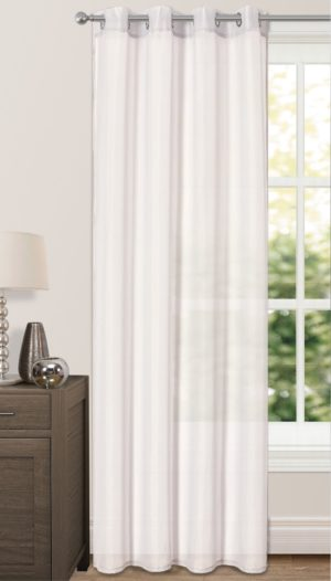 Curtains RIVA PLAIN VOILE RING TOP WHITE