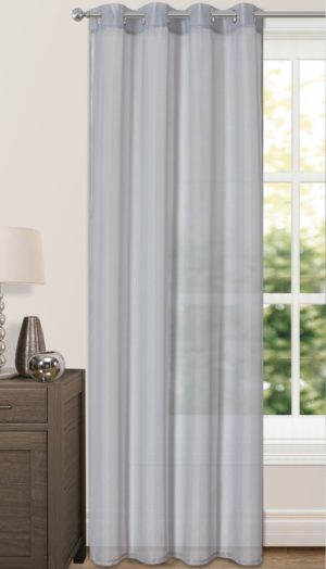 Curtains RIVA PLAIN VOILE RING TOP GREY