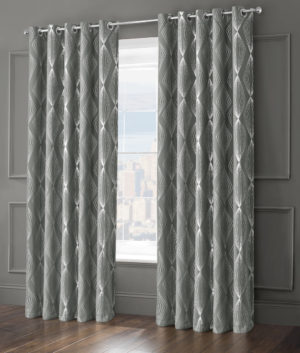 Curtains ONYX RING TOP CURTAINS GREY
