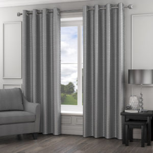 Curtains MADISON RING TOP CURTAINS SILVER