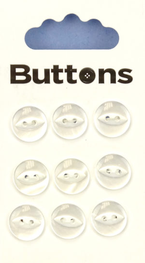 Knit & Sew FISHEYE BUTTONS – CLEAR – 005