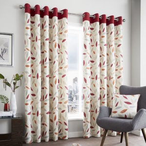 Curtains BEECHWOOD RING TOP CURTAINS RED