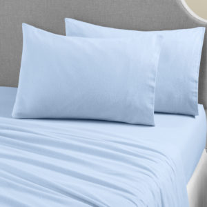 Bedding BRUSHED COTTON PILLOWCASE SKY