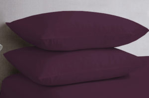 Bedding SHAWSDIRECT POLYCOTTON PILLOWCASES AUBERGINE
