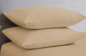 Bedding SHAWSDIRECT POLYCOTTON PILLOWCASES BEIGE