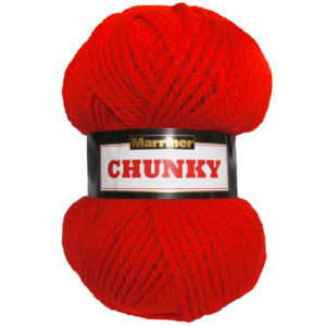Knit & Sew MARRINER YARNS CHUNKY RED