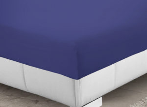 Bedding SHAWSDIRECT 4FT 3/4 BED FITTED SHEET FRENCH BLUE