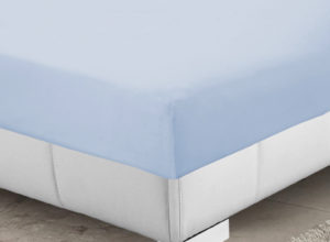 Bedding SHAWSDIRECT 4FT 3/4 BED FITTED SHEET ICE BLUE