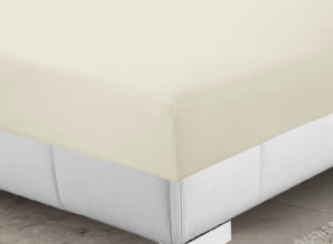 Bedding SHAWSDIRECT 4FT 3/4 BED FITTED SHEET IVORY