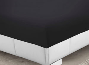 Bedding SHAWSDIRECT 4FT 3/4 BED FITTED SHEET BLACK