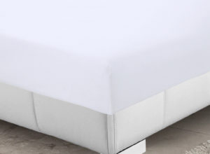 Bedding SHAWSDIRECT 4FT 3/4 BED FITTED SHEET WHITE