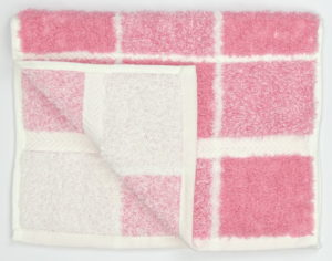 Bathroom CHEQUERS GUEST TOWEL PINK