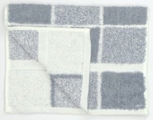 Bathroom CHEQUERS GUEST TOWEL GREY