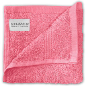 Bathroom PLAIN EGYPTIAN FACE CLOTHS PINK