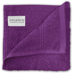 Bathroom PLAIN EGYPTIAN FACE CLOTHS PURPLE
