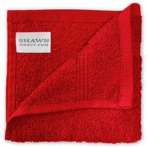 Bathroom PLAIN EGYPTIAN FACE CLOTHS RED