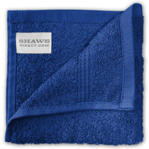Bathroom PLAIN EGYPTIAN FACE CLOTHS ROYAL