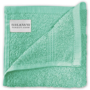 Bathroom PLAIN EGYPTIAN FACE CLOTHS SEAFOAM