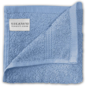 Bathroom PLAIN EGYPTIAN FACE CLOTHS BLUE