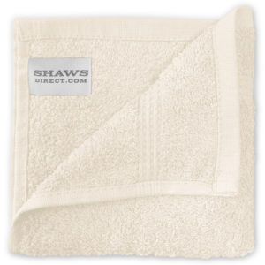 Bathroom PLAIN EGYPTIAN FACE CLOTHS CREAM