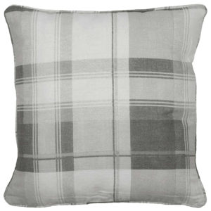 Cushions BALMORAL CHECK CUSHION COVER SLATE GREY
