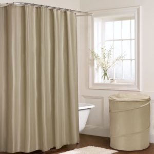 Bathroom PLAIN SHOWER CURTAIN NATURAL