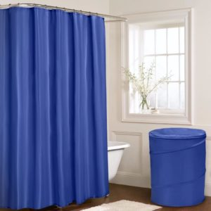 Bathroom PLAIN SHOWER CURTAIN ROYAL