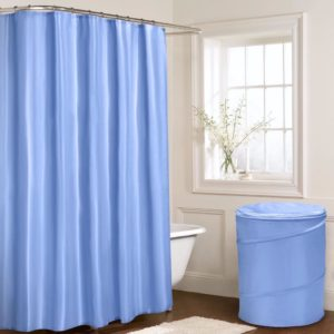 Bathroom PLAIN SHOWER CURTAIN BLUE