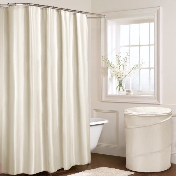 Bathroom PLAIN SHOWER CURTAIN CREAM