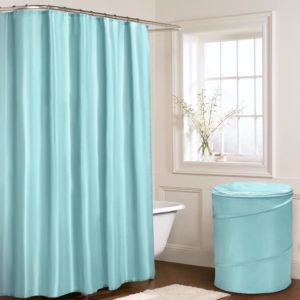 Bathroom PLAIN POP UP LAUNDRY BASKET SEAFOAM